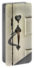 Old Door Knob 3 Portable Battery Charger by Joanne Coyle