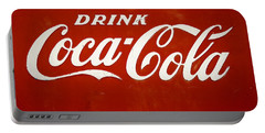 Portable Battery Charger featuring the photograph Old Drink Coca-cola Sign by Marilyn Hunt