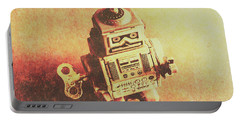 Old Electric Robot Portable Battery Charger