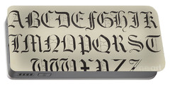 Old English Font Portable Battery Charger