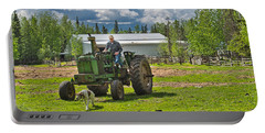 Old Farmer Old Tractor Old Dog Portable Battery Charger