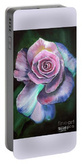 Old Fashioned Rose Portable Battery Charger by Derek Rutt