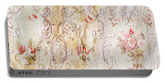Portable Battery Charger featuring the photograph Old Flowered Wallpaper by Sue Smith