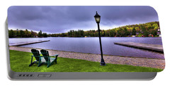 Old Forge Waterfront Portable Battery Charger by David Patterson