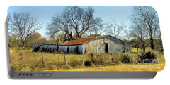 Portable Battery Charger featuring the photograph Old Forgotten Barn Near Paris Texas by Janette Boyd