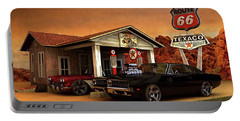 Portable Battery Charger featuring the photograph Old Gas Station American Muscle by Louis Ferreira