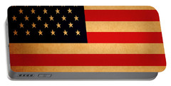Old Glory . Square Portable Battery Charger