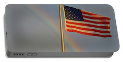 Old Glory And Rainbow Portable Battery Charger