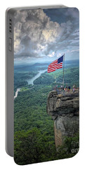 Old Glory On The Rock Portable Battery Charger