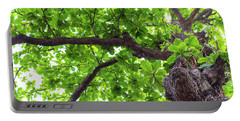 Portable Battery Charger featuring the photograph Old Green Tree by Jingjits Photography