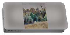 Portable Battery Charger featuring the painting Old Growth Forest by Patsy Sharpe