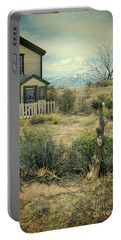 Old House Near Mountians Portable Battery Charger by Jill Battaglia