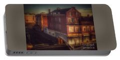 Old House On The Corner Portable Battery Charger by Miriam Danar