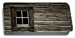 Portable Battery Charger featuring the photograph Old Log Cabin by Brad Allen Fine Art