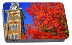 Old Main Maple Portable Battery Charger by Damon Shaw
