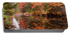 Portable Battery Charger featuring the photograph Old Main Road Stream by Jeff Folger