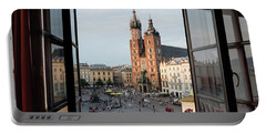 Old Main Square Krakow Poland Panorama Portable Battery Charger