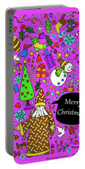 Old Man In The Peanut Merry Christmas Portable Battery Charger