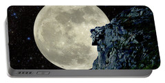 Old Man / Man In The Moon Portable Battery Charger by Larry Landolfi