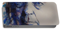 Old Man - Neil Young  Portable Battery Charger by Paul Lovering