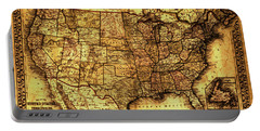 Old Map United States Portable Battery Charger