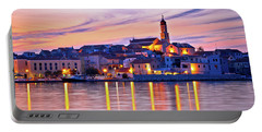 Old Mediterranean Town Of Betina Sunset View Portable Battery Charger