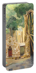 Portable Battery Charger featuring the painting Old Mill At Berry College by Rodney Campbell
