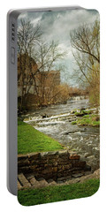 Old Mill On The River Portable Battery Charger