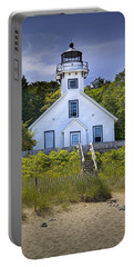 Old Mission Point Lighthouse In Grand Traverse Bay Michigan Number 2 Portable Battery Charger by Randall Nyhof