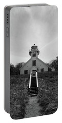 Portable Battery Charger featuring the photograph Old Mission Point Lighthouse by Joann Copeland-Paul