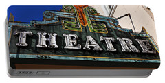 Old Movie Theatre Sign Portable Battery Charger