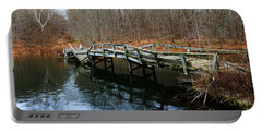 Old Mule Bridge In Fall Portable Battery Charger