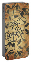 Old Nautical Parchment Portable Battery Charger