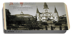 Old New Orleans Louisiana - Founded 1718 Portable Battery Charger