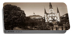 Old New Orleans Photo - Saint Louis Cathedral Portable Battery Charger