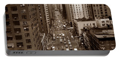 Old New York Photo - 10th Avenue Traffic Portable Battery Charger