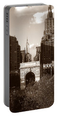 Washington Arch And New York University Portable Battery Charger