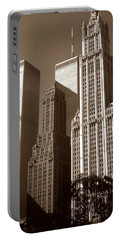 Old New York Photo - Woolworth Building Portable Battery Charger