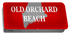Portable Battery Charger featuring the photograph Old Orchard Beach Maine State City And Town Pride  by Keith Webber Jr