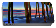 Portable Battery Charger featuring the photograph Old Orchard Beach Pier -maine Coastal Art by Joann Vitali