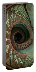 Old Ornamented Spiral Staircase Portable Battery Charger
