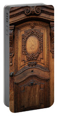 Old Ornamented Wooden Doors Portable Battery Charger by Jaroslaw Blaminsky