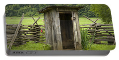 Old Outhouse On A Farm In The Smokey Mountains Portable Battery Charger by Randall Nyhof