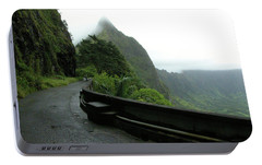 Portable Battery Charger featuring the photograph Old Pali Road, Oahu, Hawaii by Mark Czerniec