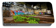 Portable Battery Charger featuring the photograph Old Peters Factory 666 by Kevin Chippindall