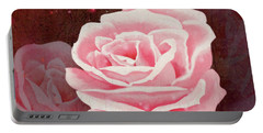 Old Pink Rose Portable Battery Charger