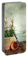 Old Plant Pot Portable Battery Charger