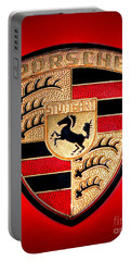 Old Porsche Badge Portable Battery Charger
