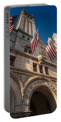 Old Post Office Washington D C Portable Battery Charger by Steve Gadomski
