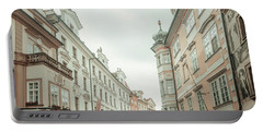 Portable Battery Charger featuring the photograph Old Prague Buildings. Staromestska Square by Jenny Rainbow